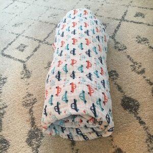 Baby boy swaddle blanket